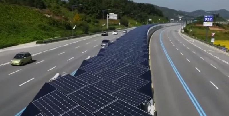 güneş panelli yollar
