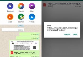 WhatsApp'tan Artık Belge ve Bağlantı Gönderilebiliyor